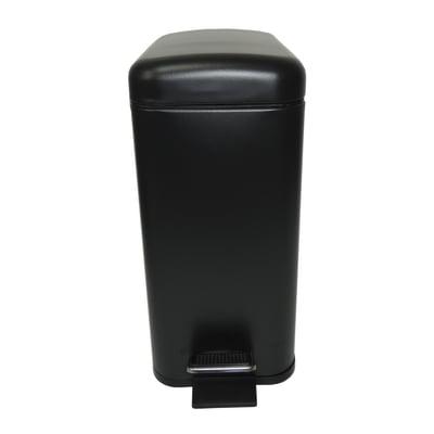 Pattumiera da bagno a pedale SENSEA nero 5 Lin metallo