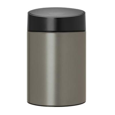 Pattumiera da bagno a ribalta Slide bin grigio / argento 5 L
