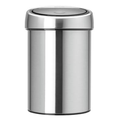 Pattumiera da bagno manuale touch bin BRABANTIA grigio 3 Lin acciaio