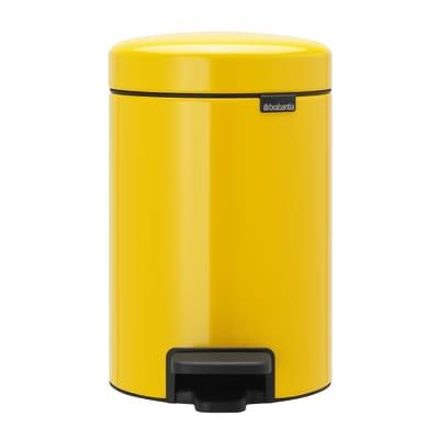Pattumiera da bagno a pedale Newicon daisy giallo / dorato 3 L