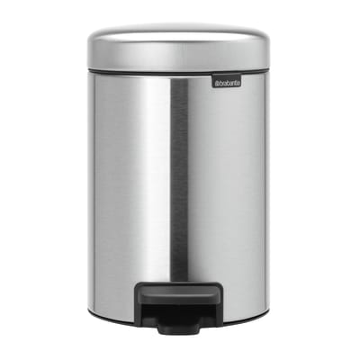 Pattumiera da bagno a pedale Newicon grigio / argento 3 L