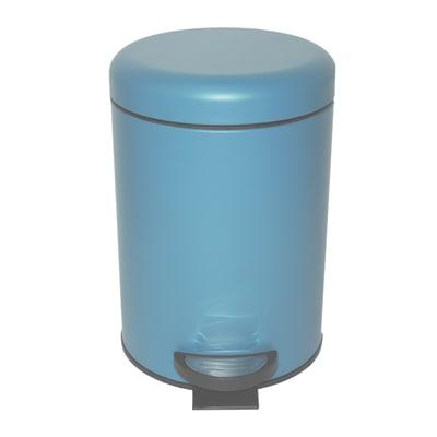 Pattumiera da bagno a pedale pop SENSEA blu 3 Lin metallo