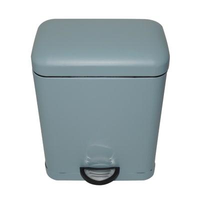 Pattumiera da bagno a pedale Smart blu 5 L