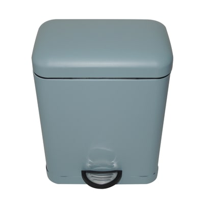 Pattumiera da bagno a pedale smart SENSEA azzurro 5 Lin metallo
