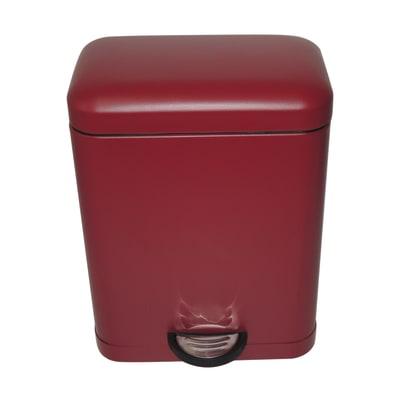 Pattumiera da bagno a pedale smart SENSEA rosso 5 Lin metallo