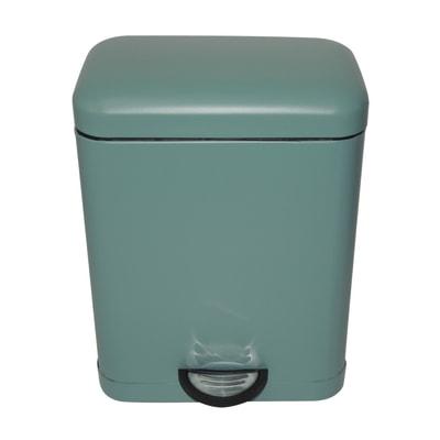 Pattumiera da bagno a pedale smart SENSEA verde 5 Lin metallo
