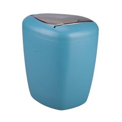 Pattumiera da bagno manuale Stone blu 6 L