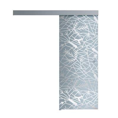 Porta scorrevole con binario esterno Andromeda in vetro Kit A L 96 x H 215 cm