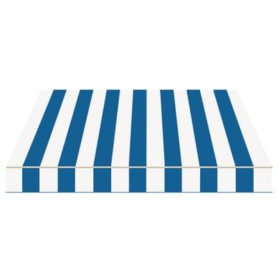 Tenda da sole a bracci estensibili manuale TEMPOTEST PARA' L 2.4 x H 2 m Cod. 419 avorio e blu