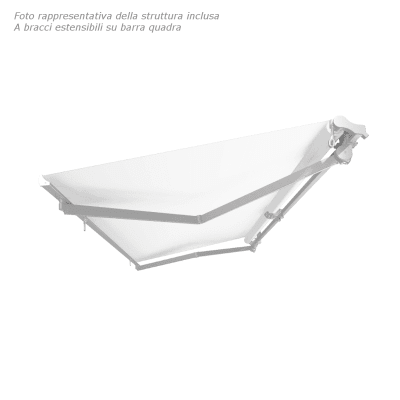 Tenda da sole a bracci estensibili manuale TEMPOTEST PARA' L 240 x H 210 cm avorio, rosso Cod. 39