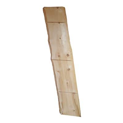 Tavola rettangolare in abete grezzo 2000 x 380 x 50 mm