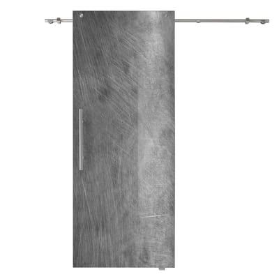 Porta scorrevole con binario esterno Graffi in vetro Kit B L 88 x H 220 cm dx
