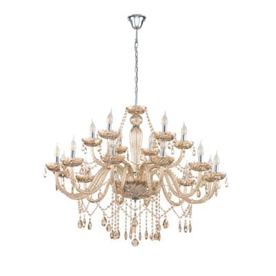Lampadario Basilano ambra, in metallo, diam. 100 cm, E14 18xMAX40W IP20 EGLO