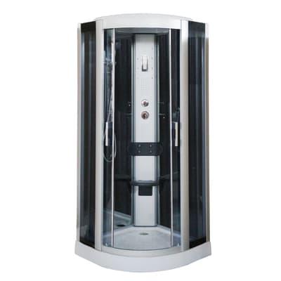 Cabina doccia idromassaggio semicircolare HYDRO 90 x 90 cm