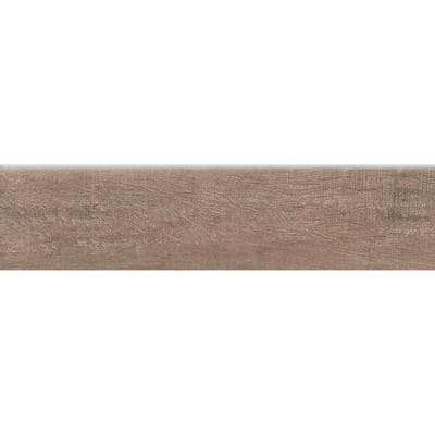 Battiscopa Wood Macadamia H 8 x L 33.3 cm marrone