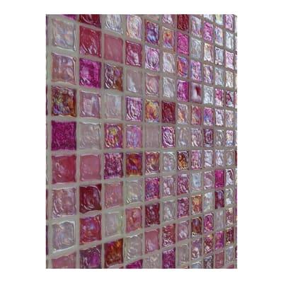 Mosaico Ice H 30 x L 30.5 cm rosa