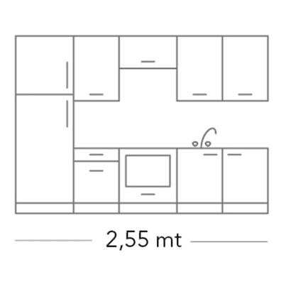 Cucina in kit DELINIA tnt olmo lava bianco