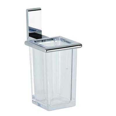 Bicchiere porta spazzolini Ella in plastica trasparente
