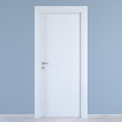 Porta a battente Renoir bianco venato L 70 x H 210 cm reversibile