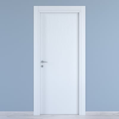 Porta a battente Renoir bianco venato L 90 x H 210 cm reversibile