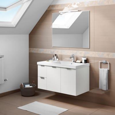 Mobile bagno Linea larice bianco L 95 cm