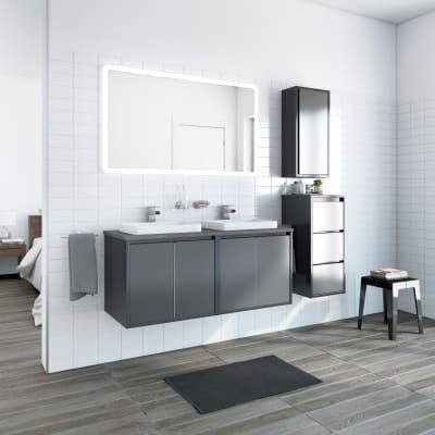 Mobile bagno Loto grigio L 120 cm