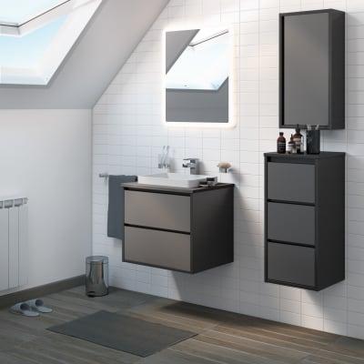 Mobile bagno Loto grigio L 60 cm