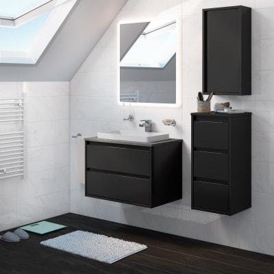 Mobile bagno Loto grigio L 75 cm