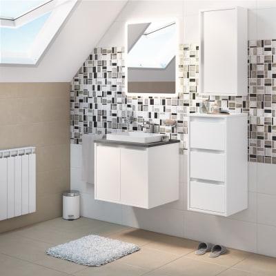Mobile bagno Loto bianco L 60 cm