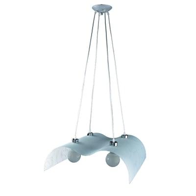 Lampadario Classico Gemelli bianco in vetro, D. 60 cm, L. 60 cm, 4 luci, NOVECENTO