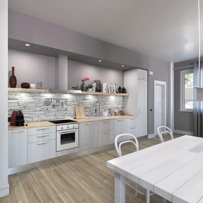 Cucina in kit DELINIA pembroke light bianco