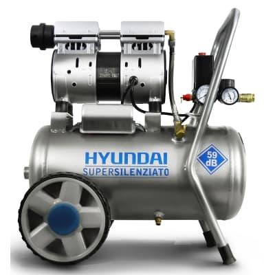 Compressore silenziato HYUNDAI 1 hp 8 bar 24 L