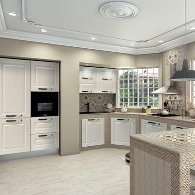 Cucina in kit DELINIA torino bianco prezzi e offerte ...