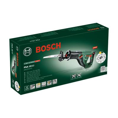 Sega a gattuccio a batteria litio (li-ion) BOSCH PSA18LI 18 V, senza batteria