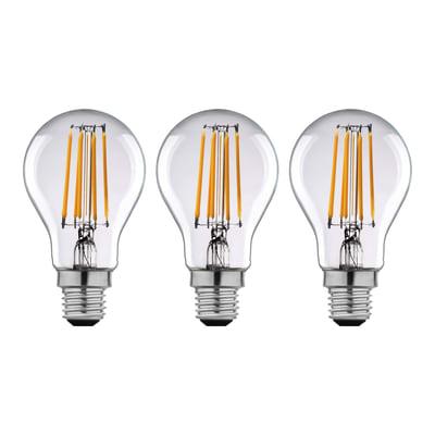 Lampadina LED filamento E27 standard bianco caldo 12W = 1521LM (equiv 100W) 360° LEXMAN, 3 pezzi