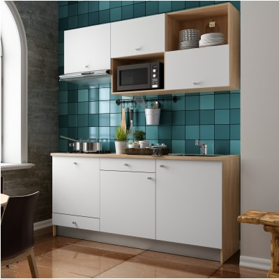 Cucina in kit one bianco L 180 cm prezzi e offerte online | Leroy Merlin