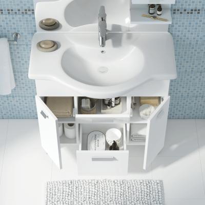Mobile bagno Rimini bianco L 85 cm