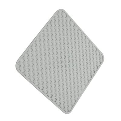 Tappeto antiscivolo quadrata Geomag in caucciù bianco 53 x 53 cm
