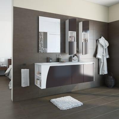 Mobile bagno Soft grigio L 152.5 cm