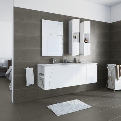 Mobile bagno Soft bianco L 152.5 cm