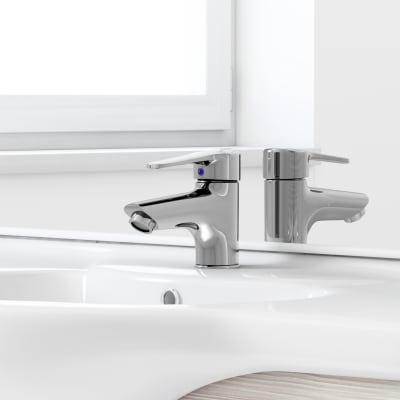 Mobile bagno Rimini larice L 85 cm
