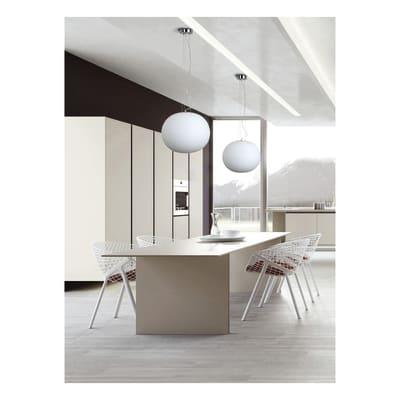 Lampadario Moderno Cipolla bianco in vetro, D. 45 cm, NOVECENTO