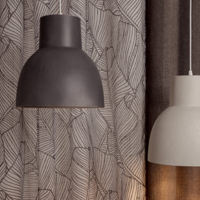 Lampadario Studio grigio, in ceramica, diam. 30 cm, E27 MAX60W IP20