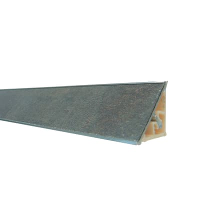 Alzatina alluminio grigio L 300 x Sp 2.7 cm