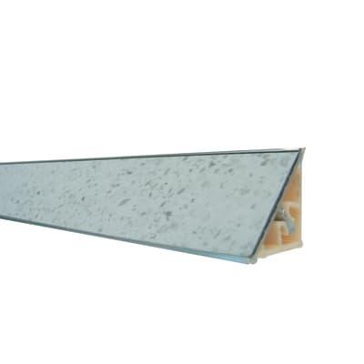 Alzatina alluminio bianco glitter L 300 x Sp 2.7 cm