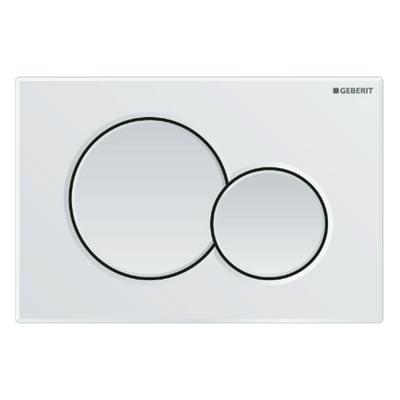 Placca doppio tasto GEBERIT Sigma 01 bianco