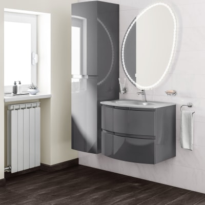 Mobile bagno Vague antracite L 69 cm