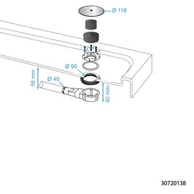 Piletta di scarico per doccia con sifone Ultrapiatta