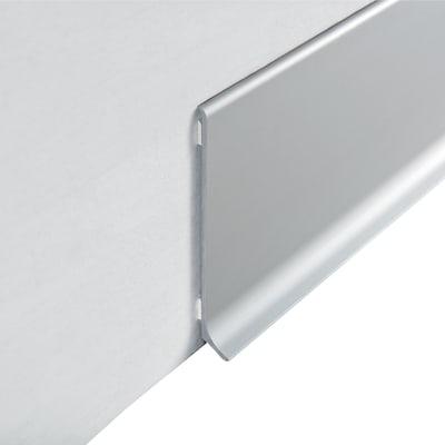 Battiscopa H 8 x L 200 cm argento