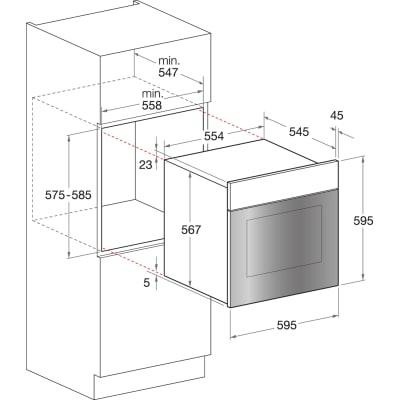 Forno Elettrico multifunzione ventilato 7 funzioni HOTPOINT FIT 804 H AN HA